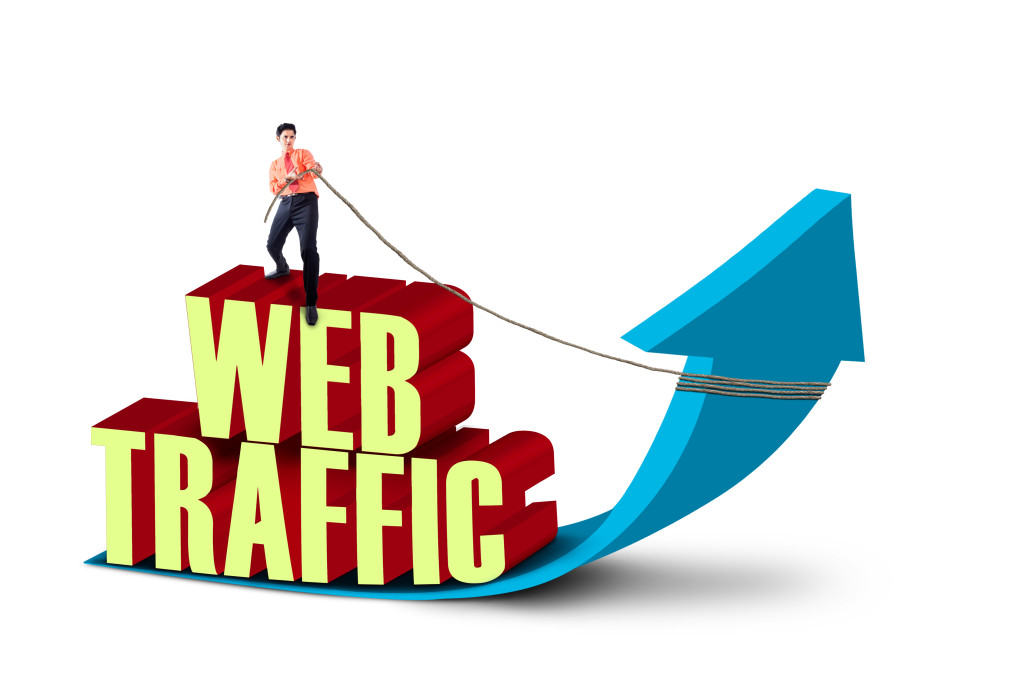 Businessman Pull Web Traffic