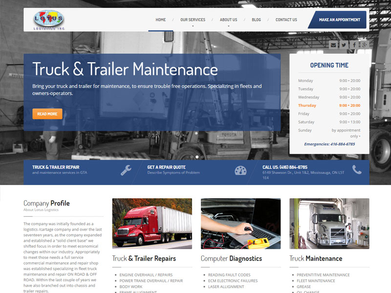 Heavy Truck Repair Shop
